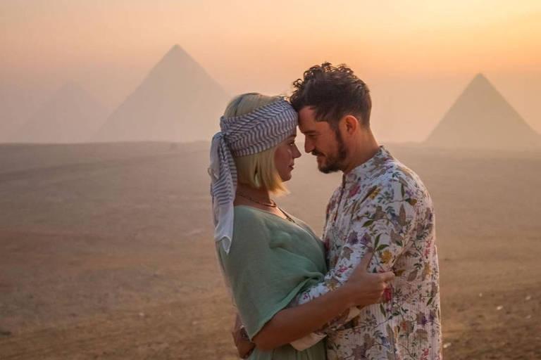 Katy Perry e Orlando Bloom em viagem ao Egito