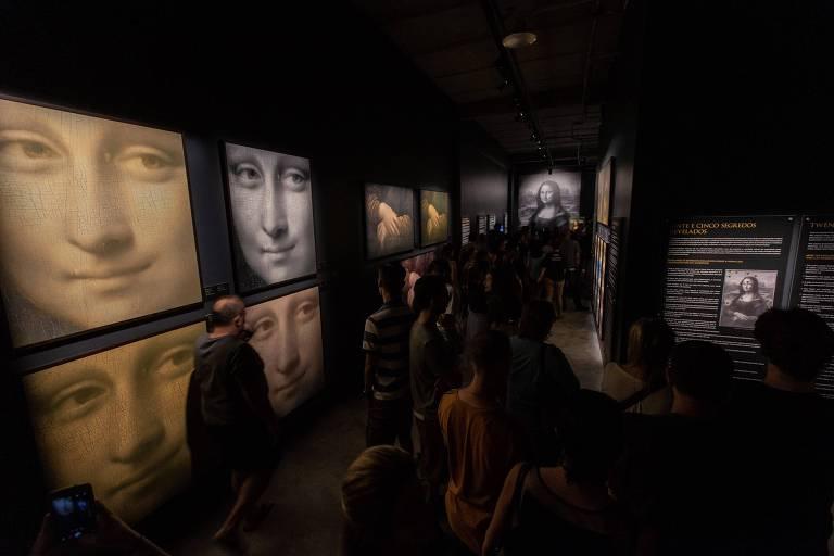 Exposição de Leonardo da Vinci inaugura MIS Experience