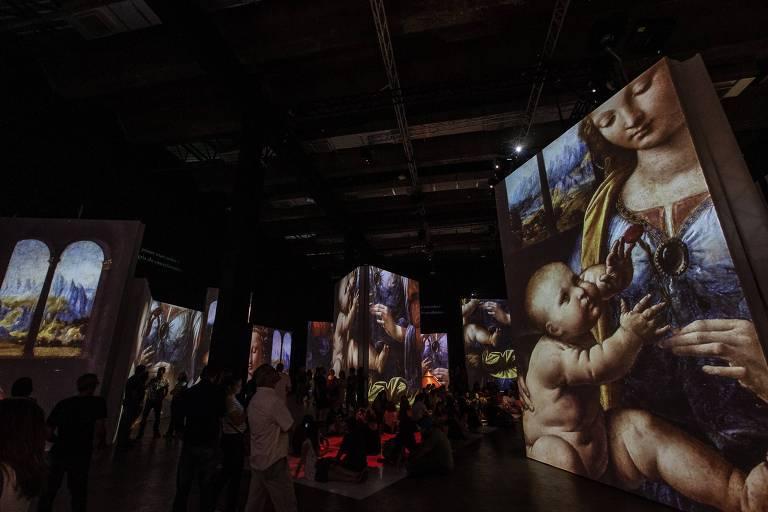 Exposição de Leonardo da Vinci no MIS Experience