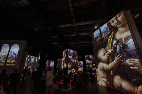 São Paulo, SP , BRASIL, 02-11-2019:  Primeiro dia da exposição Da Vinci no MIS Experience. (Foto: Bruno Santos/ Folhapress) *** ILUSTRADA  *** EXCLUSIVO FOLHA***