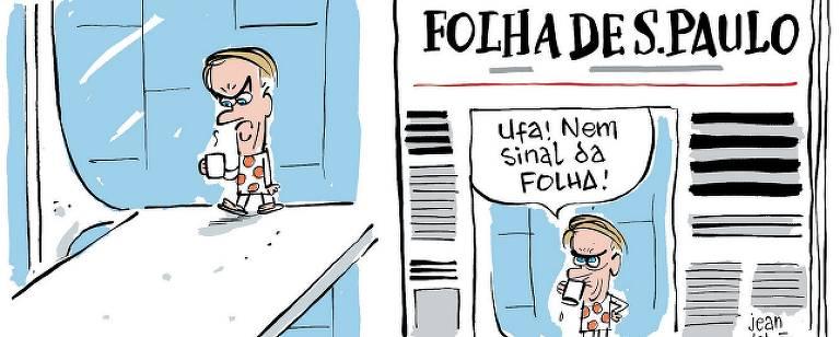 ChCharge de Jean Galvão publicada na Folha neste domingo (2)