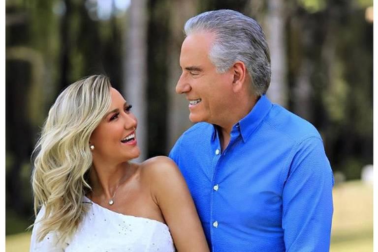 Roberto Justus e Ana Paula Siebert anunciam que estão esperando bebê