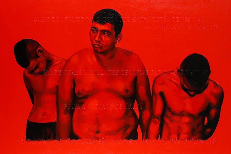 Imagem de obra de Éder Oliveira, da exposição Você É a Seta