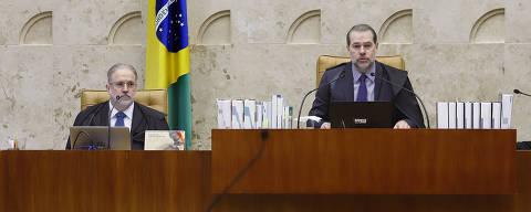 Brasilia, DF, 23-10-2019 - Supremo Tribunal Federal retoma julgamento sobre prisão em segunda instância, o Procurador-geral da República, Augusto Aras, e o Ministro Dias Toffoli. Crédito: Rosinei Coutinho/SCO/STF