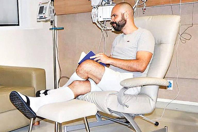 Bruno Covas durante tratamento em hospital de SP