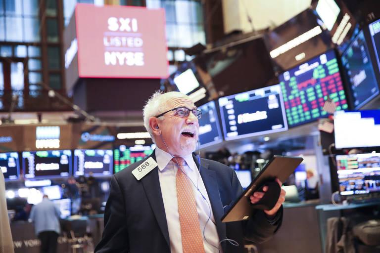 Operador na Bolsa de Valores de Nova York