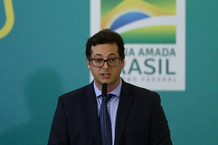 O chefe da Secom, Fábio Wajngarten, durante cerimônia no Palácio do Planalto