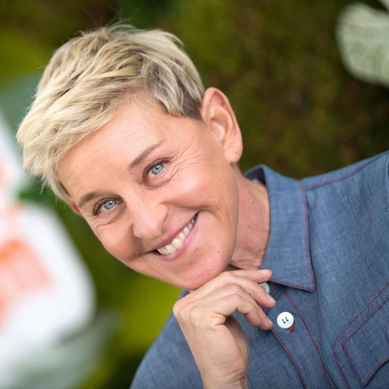 """A produtora Ellen DeGeneres na estreia de """"Green Eggs and Ham"""", na Califórnia"""