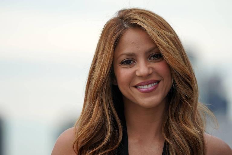 A cantora Shakira na Davis Cup Presentation, em Nova York