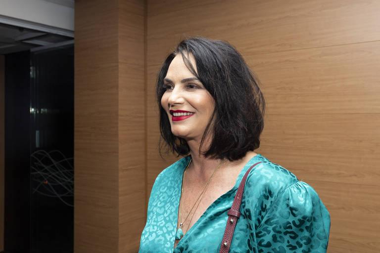 """Luiza Brunet (ex-modelo e empresária) na cerimônia de entrega do """"Prêmio Empreendedor Social"""", no Teatro Porto Seguro"""