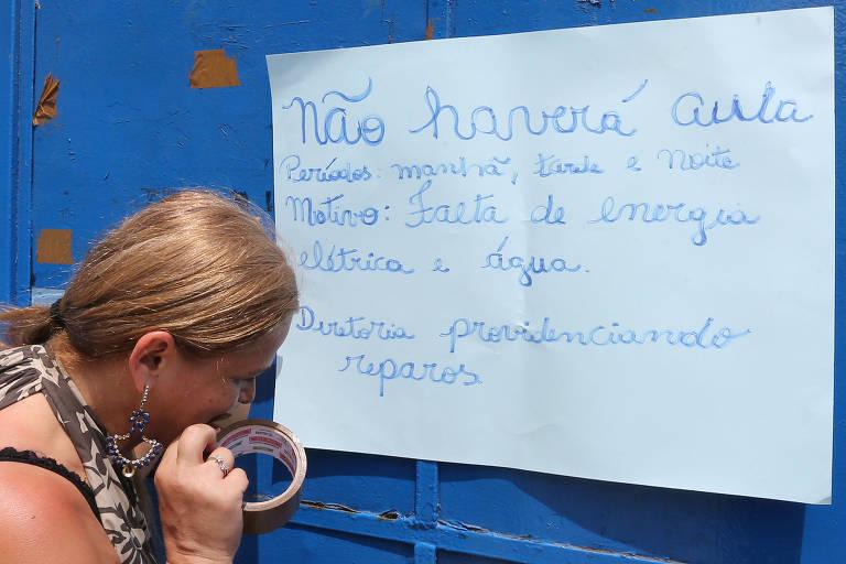 Escola do Campo Limpo fica sem aula por causa de vandalismo