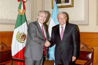 MEXICO-CIUDAD DE MEXICO-LOPEZ OBRADOR-REUNION-ALBERTO FERNANDEZ