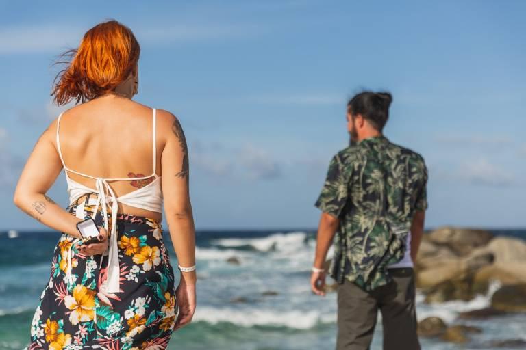 Letícia, que fugia do altar ganha concurso para pedir o namorado, Paulo, em casamento em Aruba