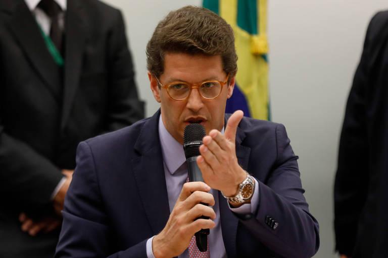O ministro do Meio Ambiente Ricardo Salles participa de audiência de Comissões conjuntas da câmara dos deputados para falar sobre o vazamento de óleo no litoral nordeste brasileiro