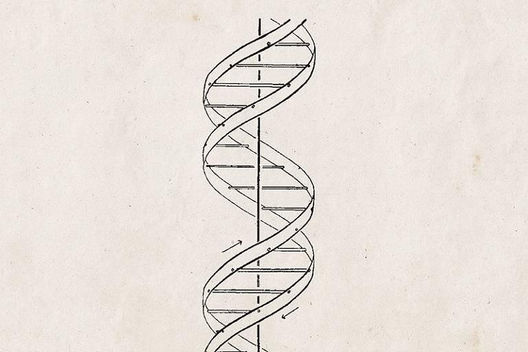 Ilustração de fitas de DNA