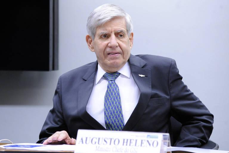 Ministro Augusto Heleno, em audiência na Câmara, nesta quarta (6)