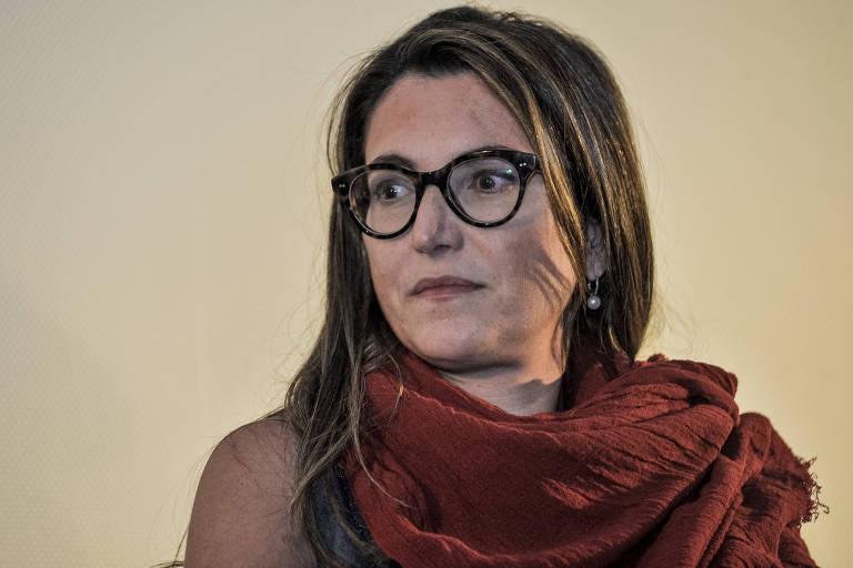 Patrícia Campos Mello, repórter especial da Folha, durante evento promovido pelo jornal, em São Paulo