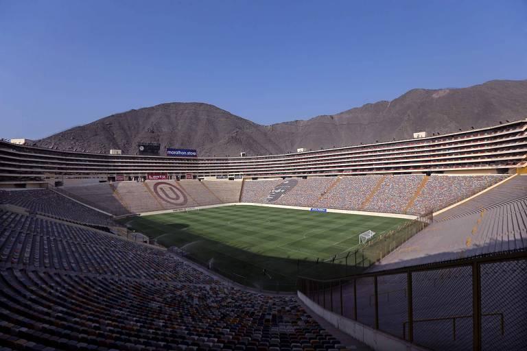 Vista do estádio Monumental de Lima, que vai receber a final da Libertadores de 2019