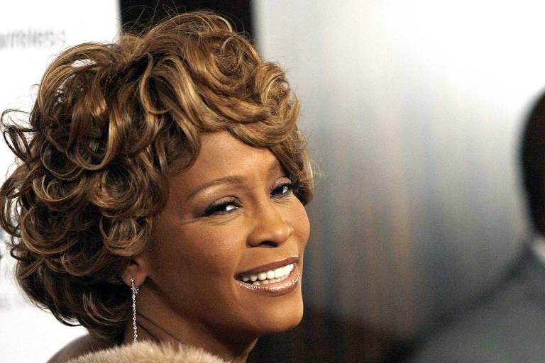 Whitney Houston, em fevereiro de 2007