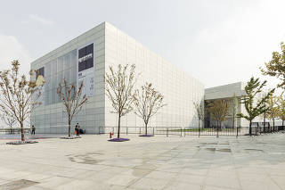 The West Bund Museum, which houses the Pompidou outpost, is designed by the British architect David Chipperfield, in Shanghai on Nov. 4, 2019. (Yuyang Liu/The New York Times)