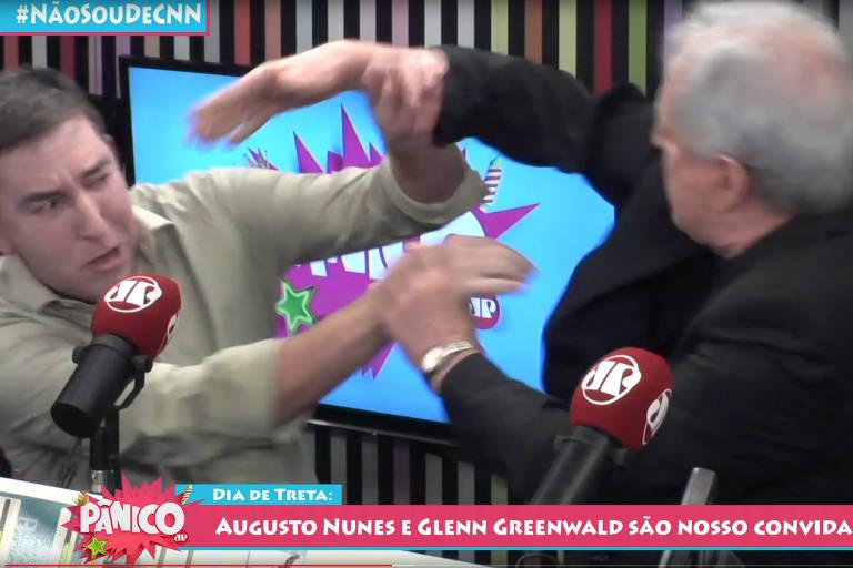 Jornalista Augusto Nunes bate em Glenn Greenwald, que revida
