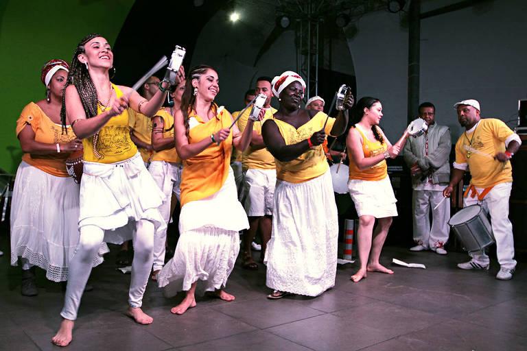 Bloco Afro É Di Santo, grupo de São Paulo, que se apresenta na Noite dos Tambores
