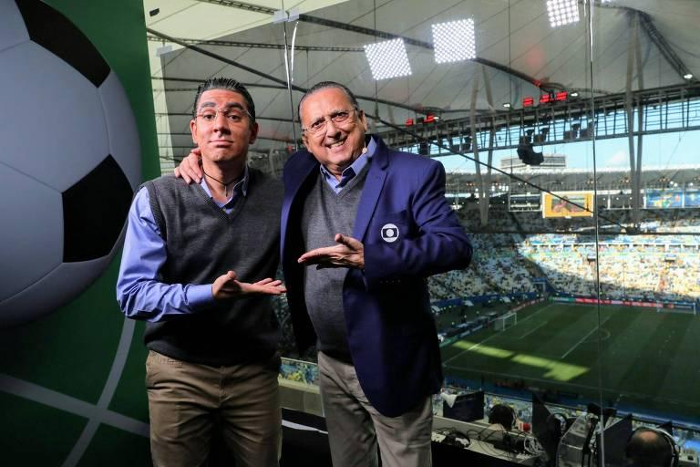 Galvão Bueno e Marcelo Adnet
