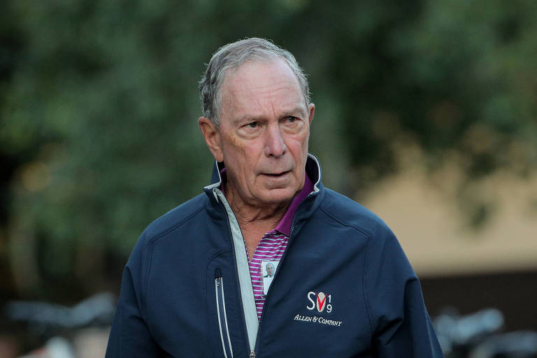 Ex-prefeito de Nova York Michael Bloomberg durante conferência em Sun Valley, no estado de Idaho