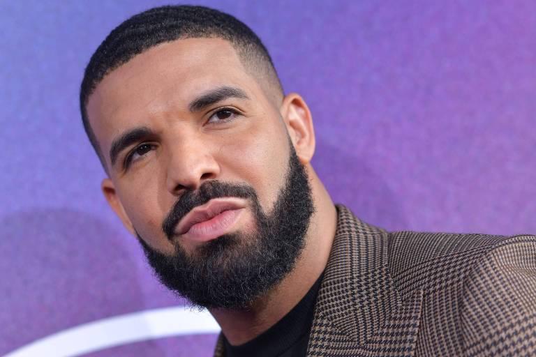 """O cantor Drake no lançamento da série """"Euphoria"""" em junho de 2019"""