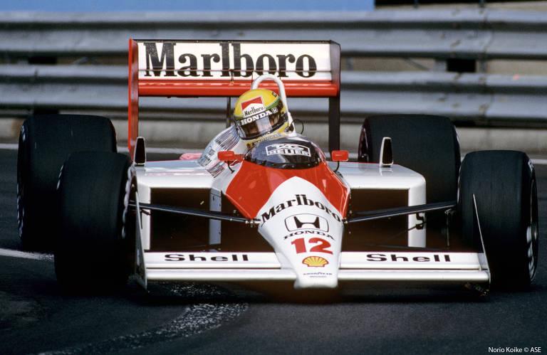 Ayrton Senna no Detroit Grand Prix, em junho de 1988