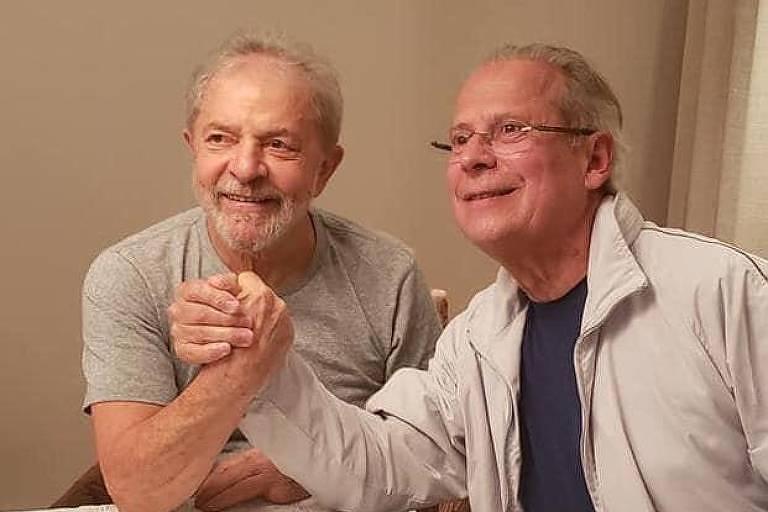 Dirceu reencontra Lula e diz que luta agora é retomar o governo