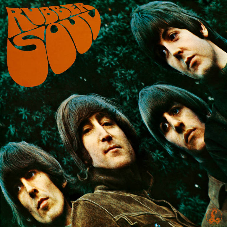 "Capa do álbum ""Rubber Soul"""