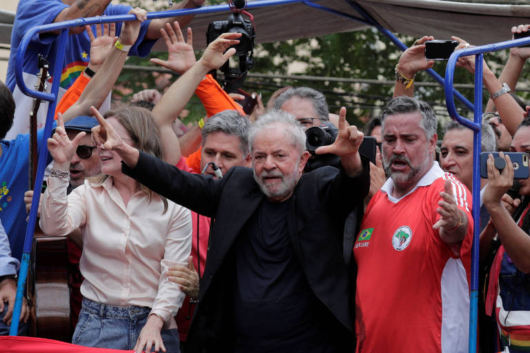 O ex-presidente Lula, em sindicato do ABC