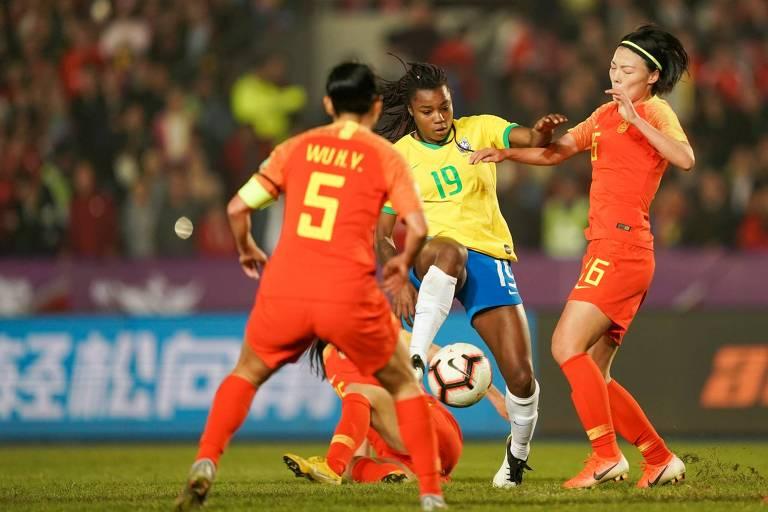 Seleção feminina de futebol perde para a China na final do Torneio Internacional da China