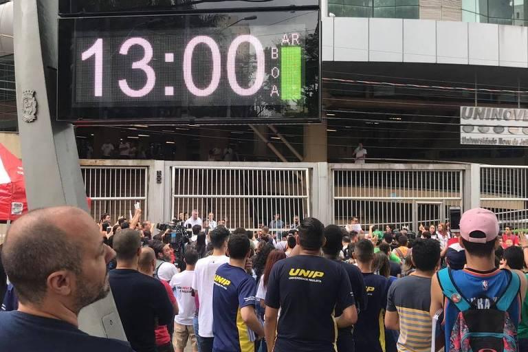 Dia de prova do Enem em São Paulo em 2019; prova é usada para acesso ao Fies