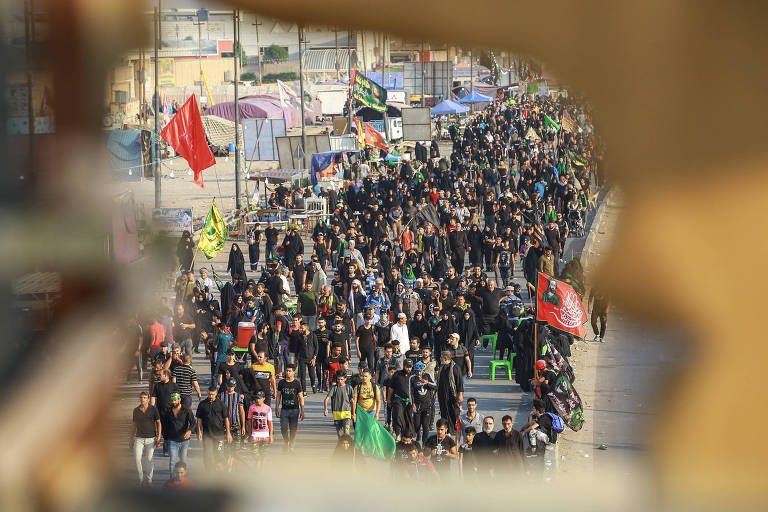 muçulmanos marcham