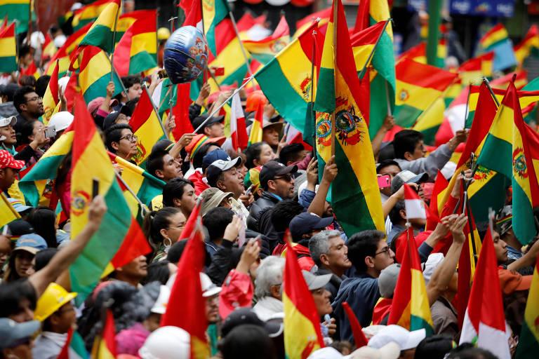 Protestos que levaram à queda de Evo Morales
