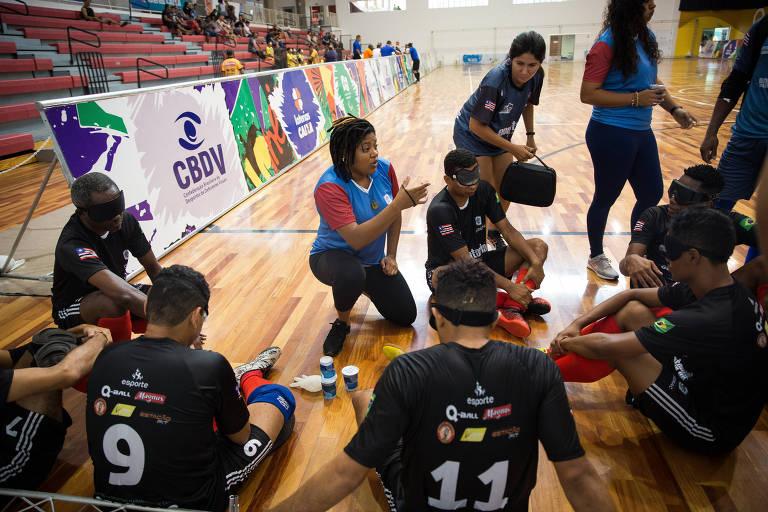 Laryssa Macêdo, a única mulher técnica de futebol de 5 no Campeonato Brasileiro
