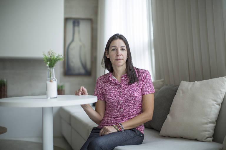 Caroline Michalaros, que trocou a escola da filha por causa dos seguidos aumentos