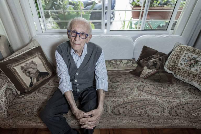 Andor Stern, único sobrevivente brasileiro do Holocausto e que experimentará, no próximo dia 11, a mesma emoção dos adolescentes judeus: fazer um Bar Mitzvá