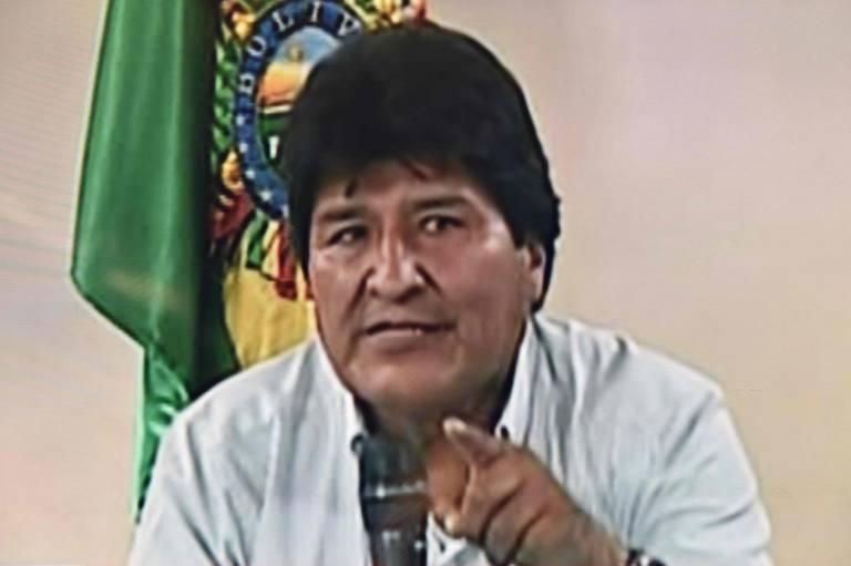 Evo Morales, ao anunciar sua renúncia, em Cochabamba