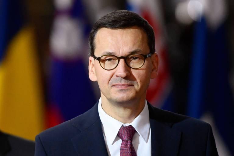 O primeiro-ministro da Polônia Mateusz Morawiecki