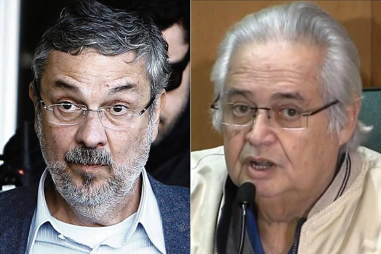 O ex-ministro da Fazenda Antonio Palocci e o ex-deputado federal Pedro Corrêa