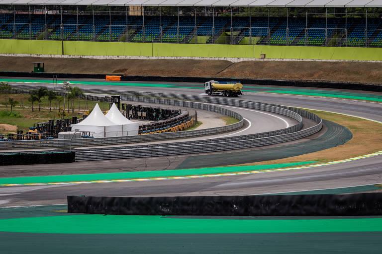 Autódromo recebendo últimos retoques para o GP de 2019