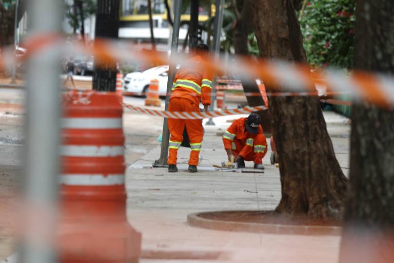 Reforma tem início no largo do Arouche, em São Paulo