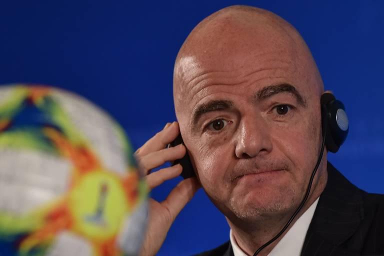 Gianni Infantino, presidente da Fifa, recebe diagnóstico de Covid-19