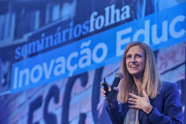 Claudia Costin, diretora do Centro de Excelência e Inovação em Políticas Educacionais da FGV Rio de Janeiro, na abertura do quarto fórum de Inovação Educativa