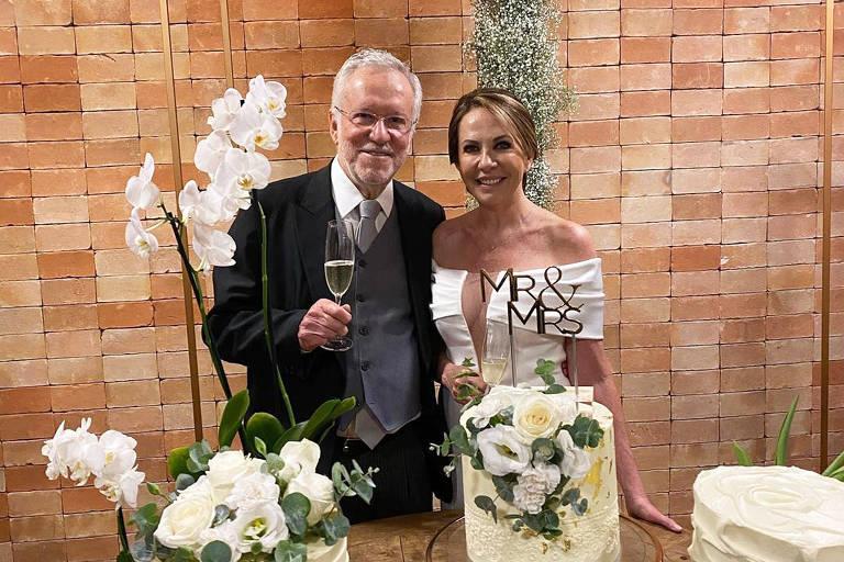 Casamento do jornalista Alexandre Garcia, 79 anos e  Magda Pereira