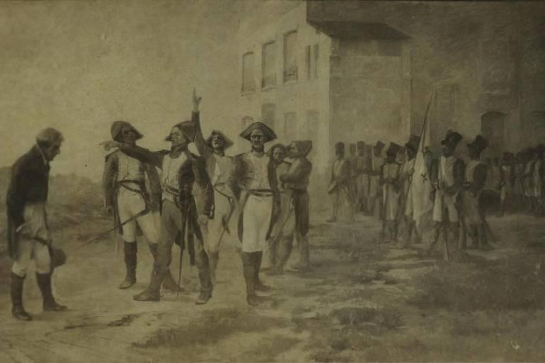 Imagem retrata personagens da Revolução Pernambucana de 1817