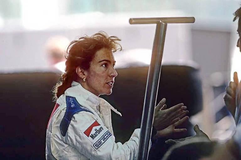 Giovanna Amati nos boxes da F-1 em 1992